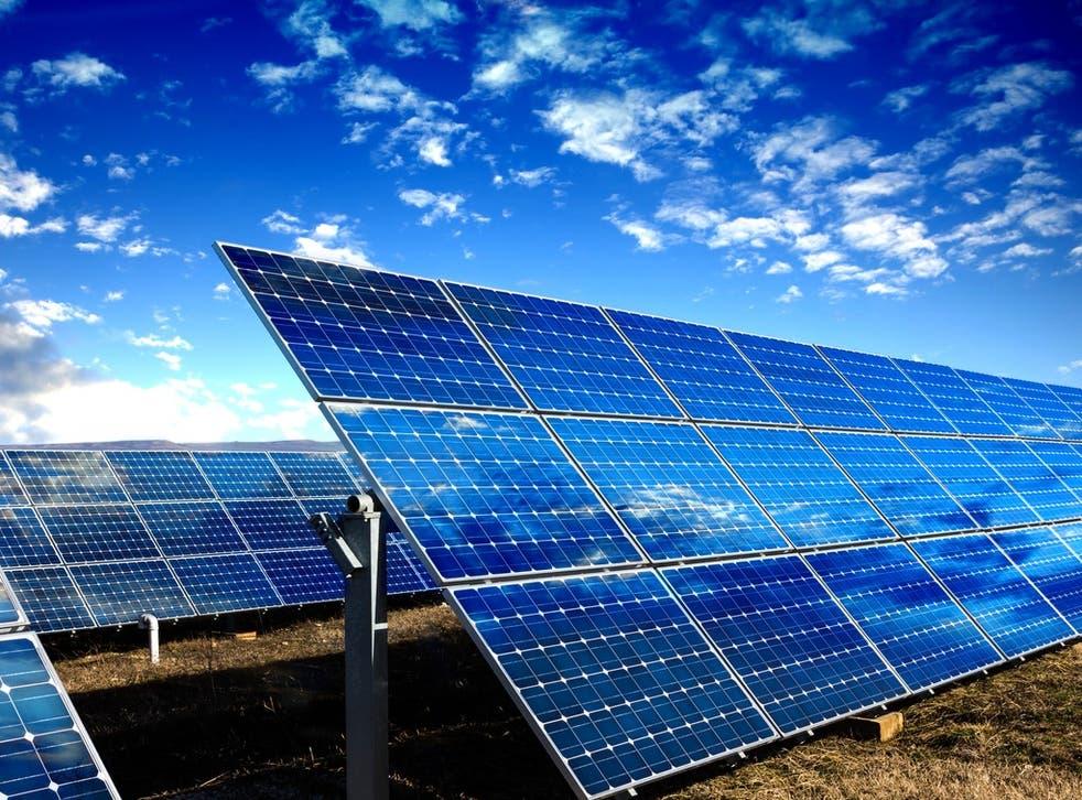 Biden unveils plan for solar power t