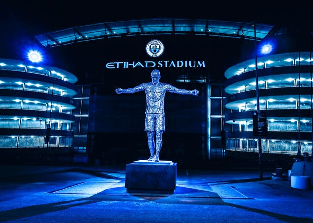 A statue of Vincent Kompany has been unveiled at the Etihad Stadium (Manchester City/Handout)