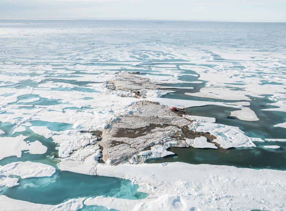 <p>The tiny island off the coast of Greenland, discovered during the Leister Expedition</p>