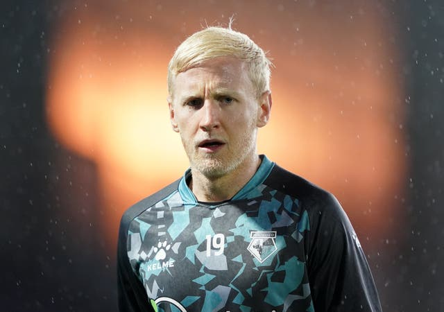 Will Hughes has completed a move from Watford to Crystal Palace (Zac Goodwin/PA)