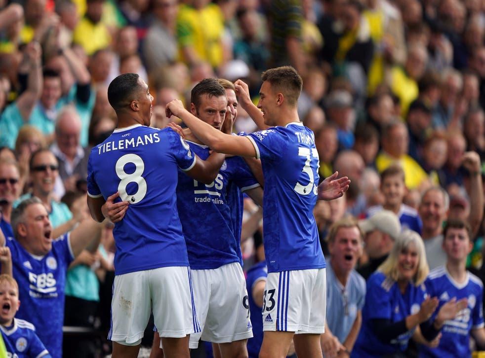 Leicester won at Norwich (Joe Giddens/PA)