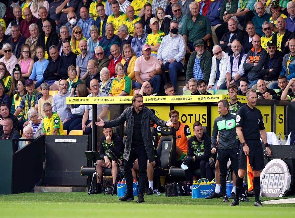 Daniel Farke's side lost to Leicester (Joe Giddens/PA)