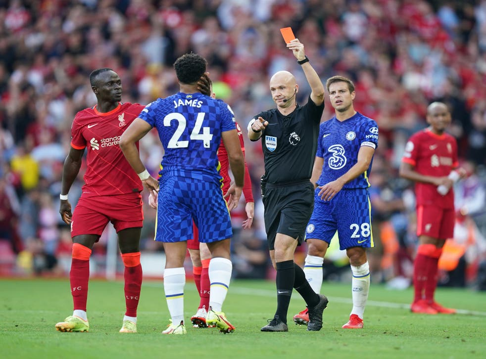 <p>Chelsea survived Reece James' dismissal to hold out for a draw (Mike Egerton/PA)</p>