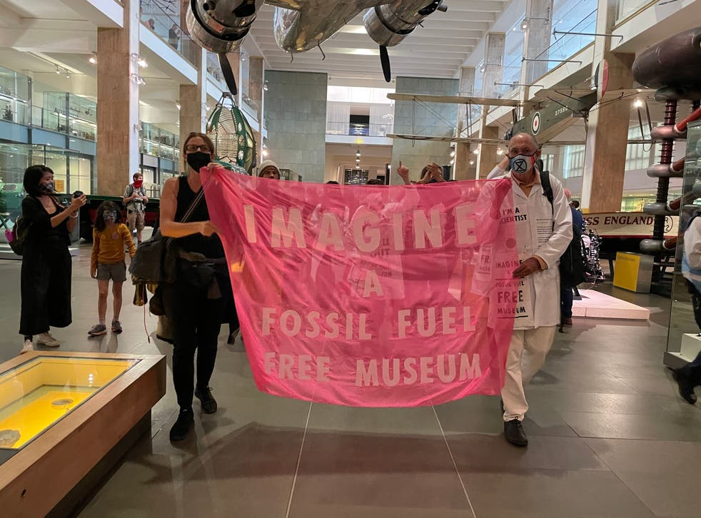 <p>Extinction Rebellion entered the Science Museum on Exhibition Road</p>