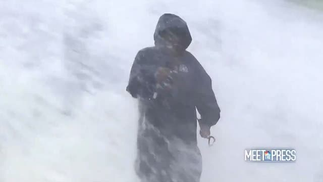<p>Al Roker braving waves during hurricane hurricane Ida  </p>