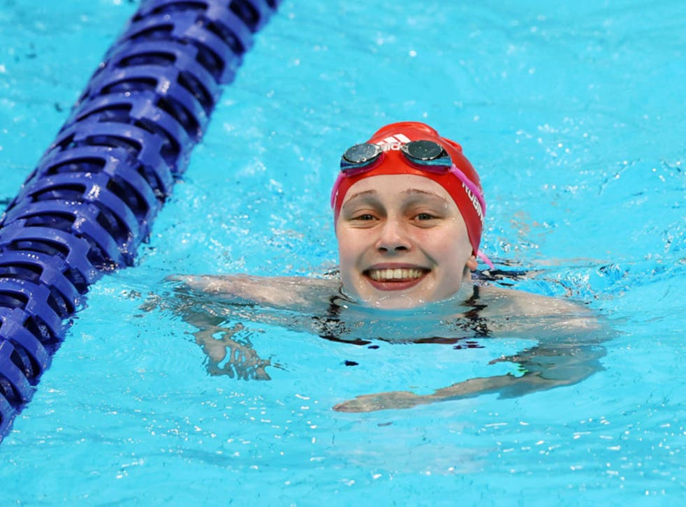<p>Ellie Robinson finished fifth in the 50m butterfly S6 final </p>
