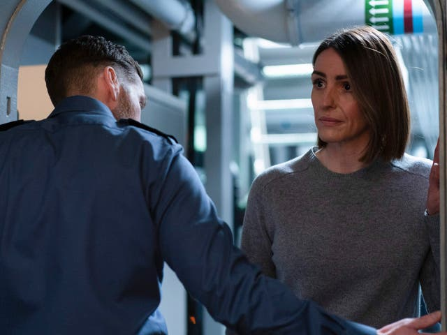 <p>Suranne Jones is sent out to a sub in Vigil </p>