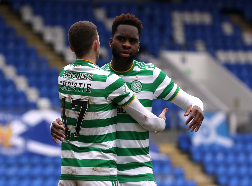 Ryan Christie, left, and Odsonne Edouard were among the departures from Celtic (Ian McNichol/PA)
