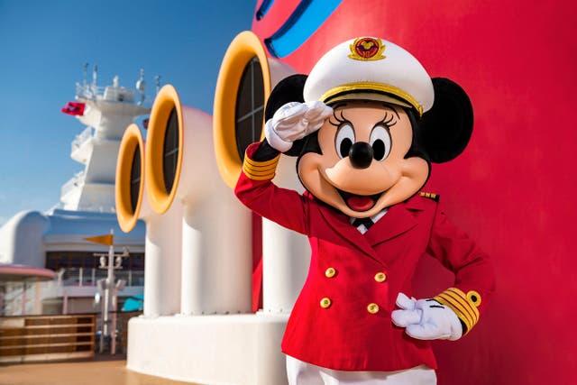 Captain Minnie Mouse on the Disney Cruise Line (PA/Disney Cruise Line/Matt Stroshane)