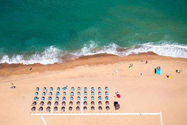 Piscinas beach in Sardinia (Renato Granieri/PA)