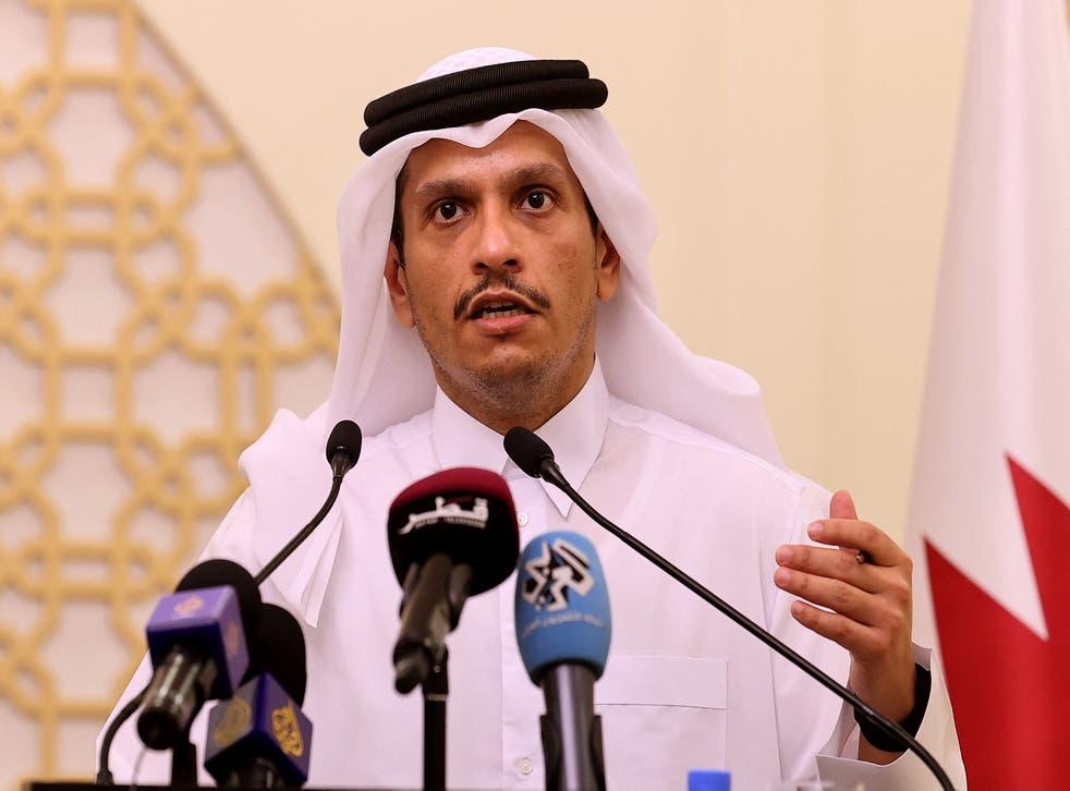 <p>Qatar's foreign minister, Sheikh Mohammed bin Abdulrahman al-Thani</p>
