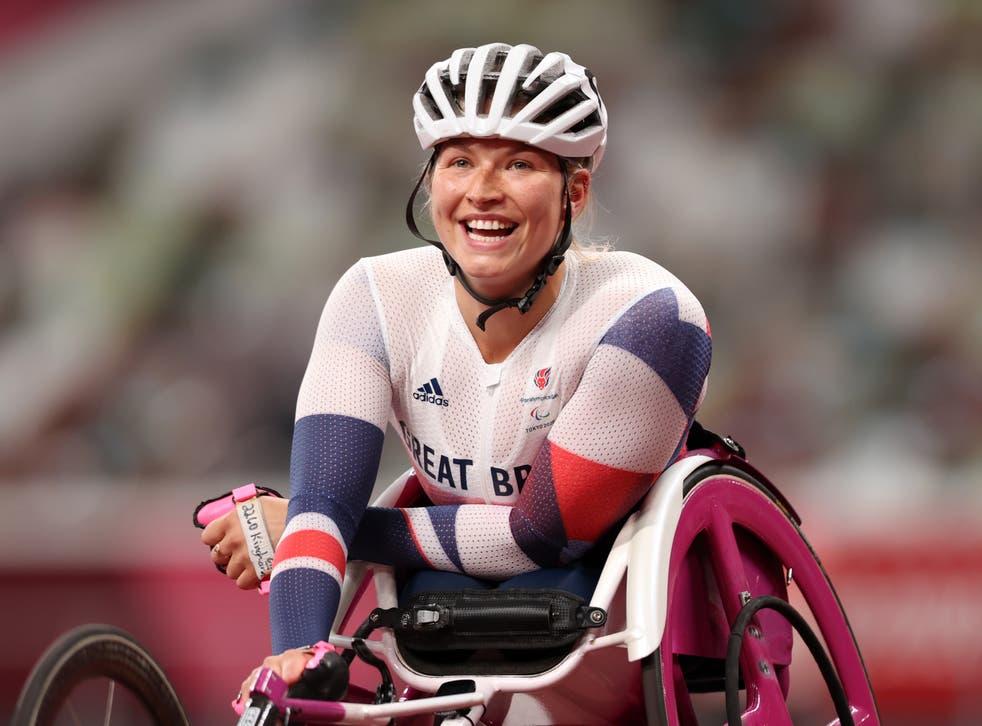 <p>Samantha Kinghorn of Team Great Britain celebrates winning bronze</p>
