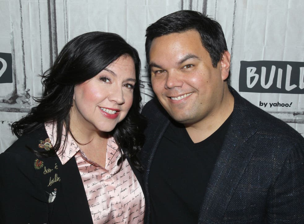 """<p>Kristen Anderson Lopez and Robert Lopez - the duo behind the hit song """"Let It Go""""</p>"""