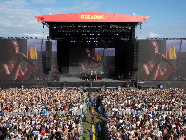 <p>Crowds at Reading Festival</p>