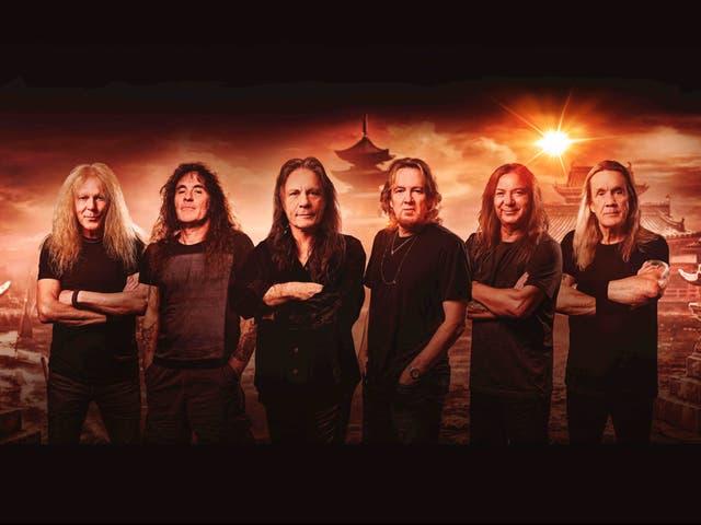 <p>Iron Maiden in artwork for their new album</p>