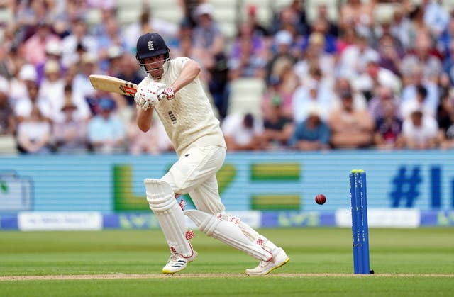 Dom Sibley dug in to make a half-century and help Warwickshire bat out a draw (Mike Egerton/PA)