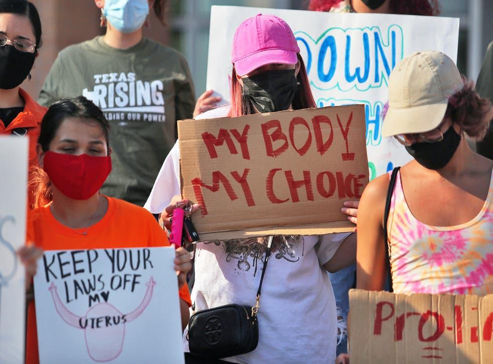 <p>Protesters in the city of Edinburg, Texas</p>