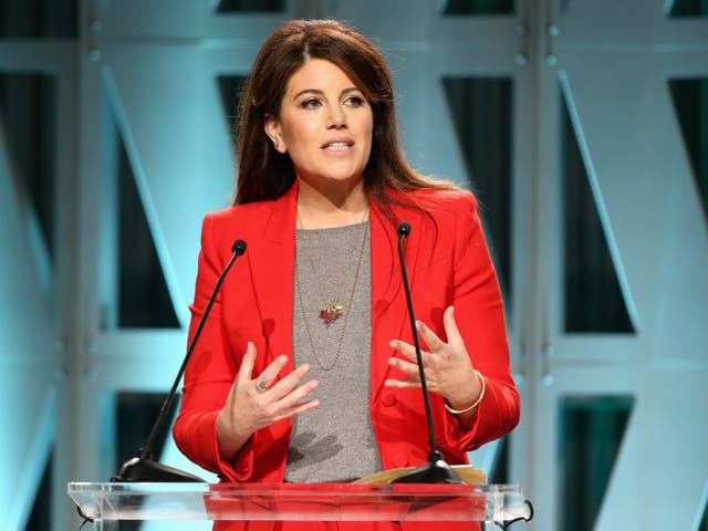 <p>Monica Lewinsky onstage at The Hollywood Reporter's Power 100 Women In Entertainment at Milk Studios</p>