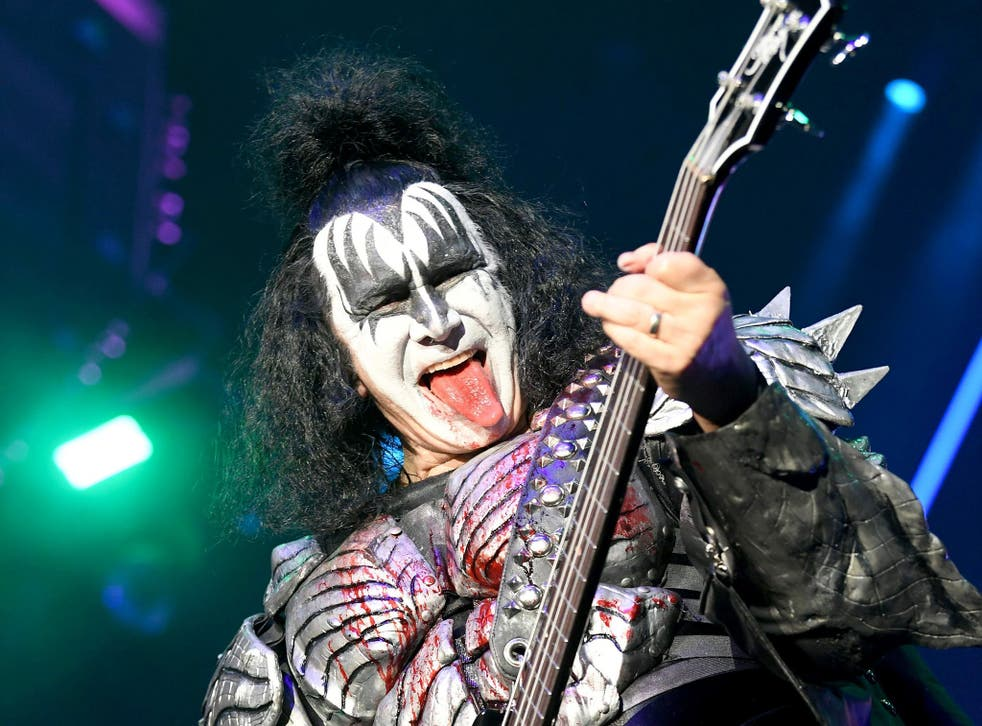 <p>Gene Simmons: 'I've got to do two hours of make-up preparation, then wear 40 pounds of armour and studs, and then seven-inch platform heels'</p>