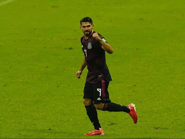 <p>Henry Josue Martin de México celebra después de anotar el segundo gol de su equipo contra Jamaica durante un partido de fútbol de clasificación para la Copa Mundial de la FIFA Qatar 2022, en la CDMX, el jueves 2 de septiembre de 2021.</p>