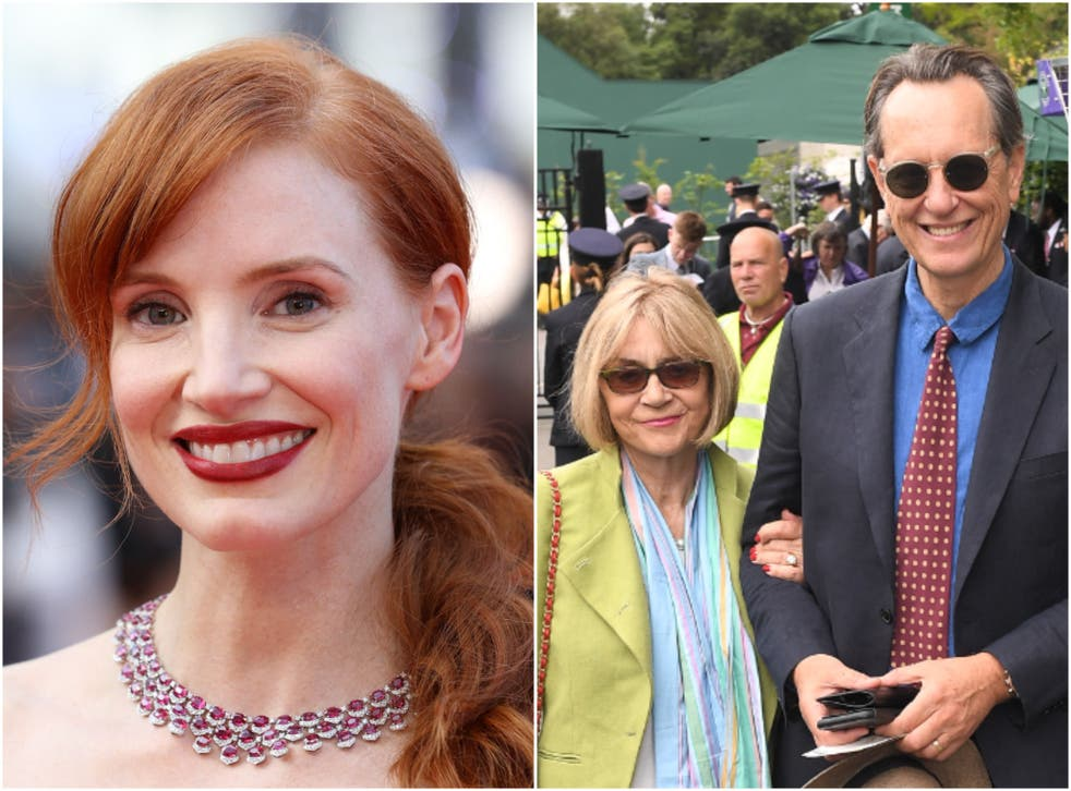 <p>Chastain (left) worked with Washington on eight films</p>