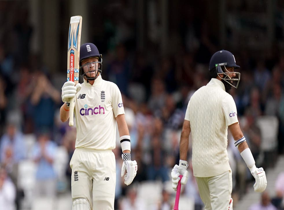 Ollie Pope helped put England in a strong position (Adam Davy/PA)