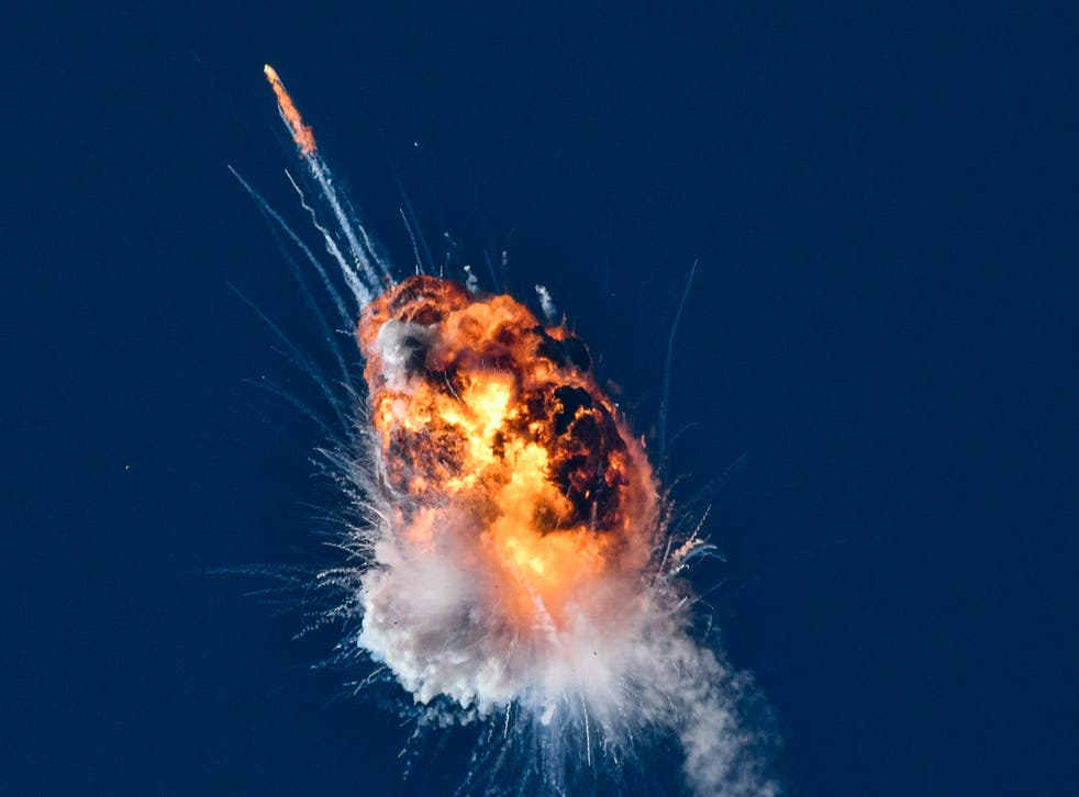 Rocket Explodes