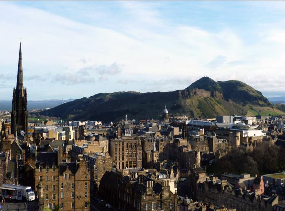 <p>The woman died after falling from the hill that overlooks the city of Edinburgh</p>