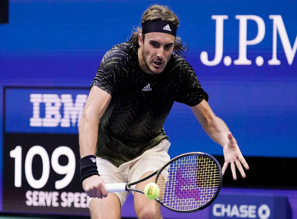 Stefanos Tsitsipas has been the bad boy of the 2021 US Open (Seth Wenig/AP)