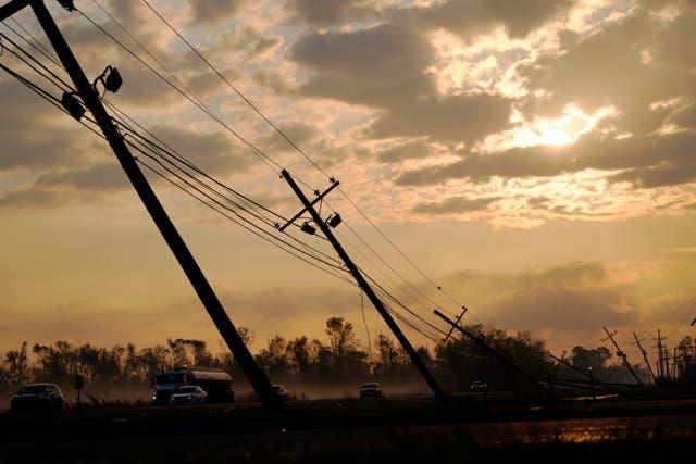 Red eléctrica del huracán Ida
