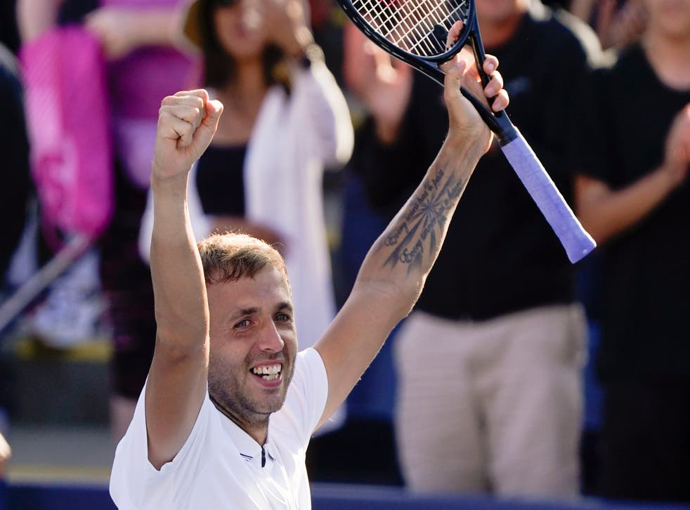 Dan Evans will try to topple second seed Daniil Medvedev in the fourth round in New York (John Minchillo/AP)