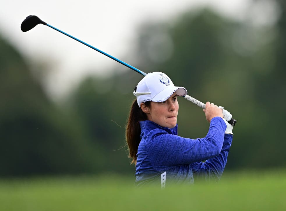 Leona Maguire partnered Mel Reid to victory on the opening day of the Solheim Cup in Toledo (David Dermer/AP)