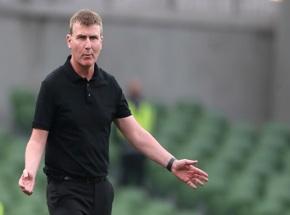 Republic of Ireland manager Stephen Kenny defended his reign after a 1-1 World Cup qualifier draw with Azerbaijan (Niall Carson/PA)