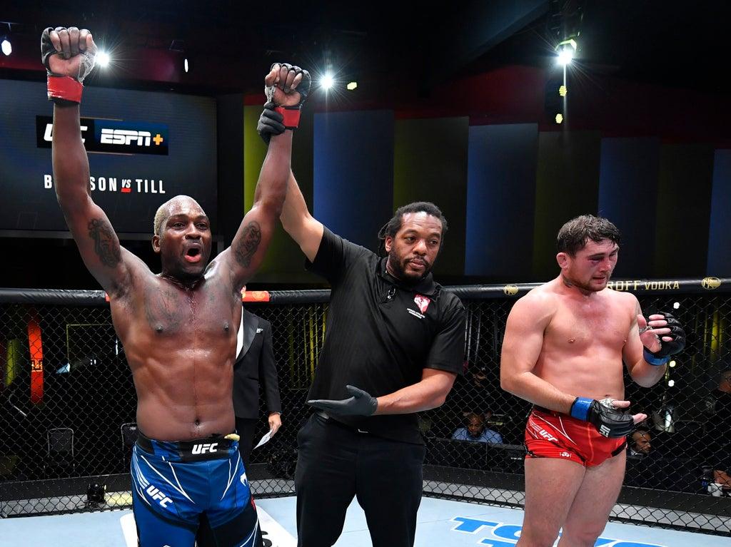 Darren Till submitted by Derek Brunson in third round of UFC Fight Night main event thumbnail