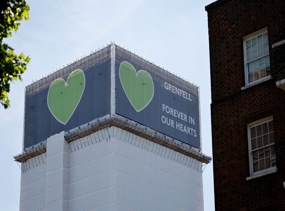 <p>Grenfell Tower pictured in  June 2021, four years after a fire in the residential tower block killed 72 people</p>