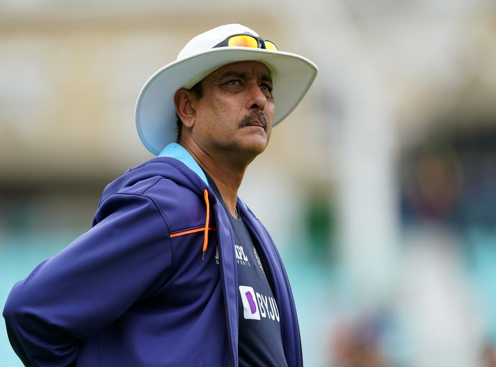 India head coach Ravi Shastri is isolating after a positive test for Covid-19 (Adam Davy/PA)