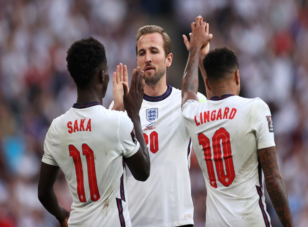 <p>Harry Kane, Bukayo Saka and Jesse Lingard were all on target in the win </p>