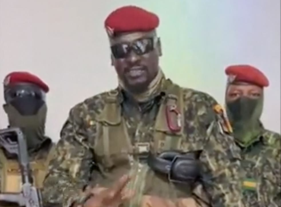 <p>Army colonel Mamadi Doumbouya announced on state television that Guinea's border had been closed following the capture of the country's president</p>