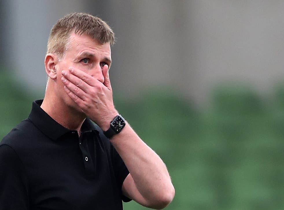 <p>Republic of Ireland manager Stephen Kenny has endured a difficult start to his reign (Niall Carson/PA)</p>