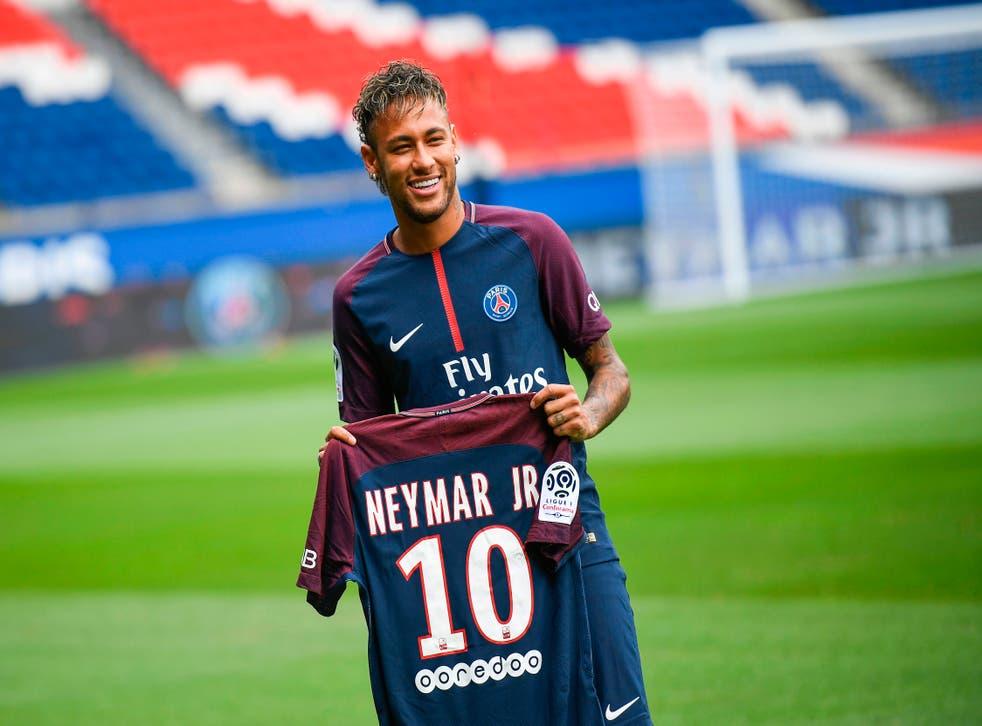 <p>Neymar joined PSG in 2017 </p>