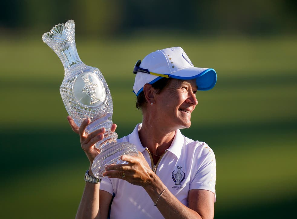 Catriona Matthew has ruled out another term as Solheim Cup captain after leading Europe to back-to-back wins (Carlos Osorio/AP)