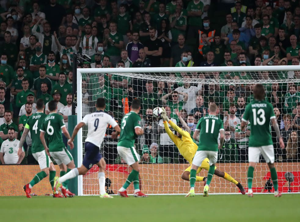 Keeper Gavin Bazunu starred for the Republic of Ireland in their World Cup qualifier draw with Serbia (Niall Carson/PA)
