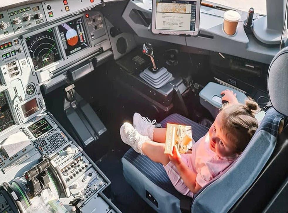 <p>Toddler Lottie Salmon onboard the easyJet flight</p>
