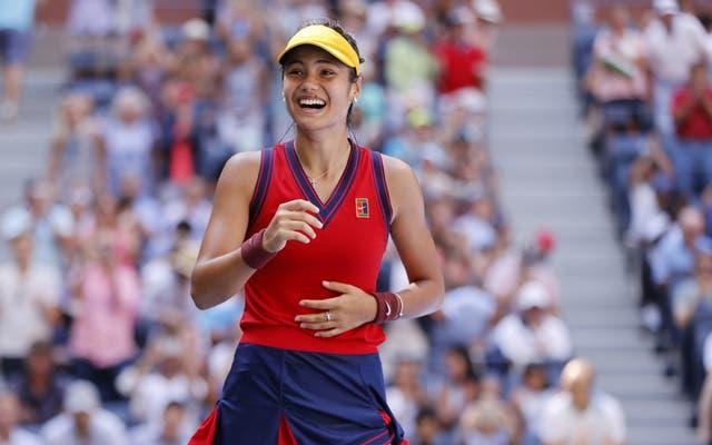 Emma Raducanu celebra llegar a semifinales