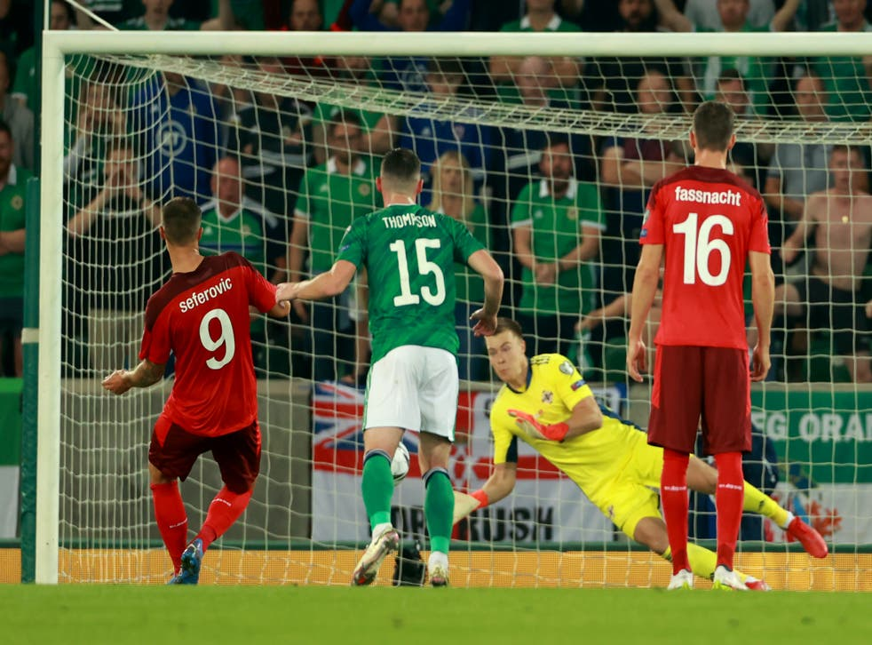 Bailey Peacock-Farrell saved from the penalty spot as Northern Ireland drew with Switzerland (Niall Carson/PA)