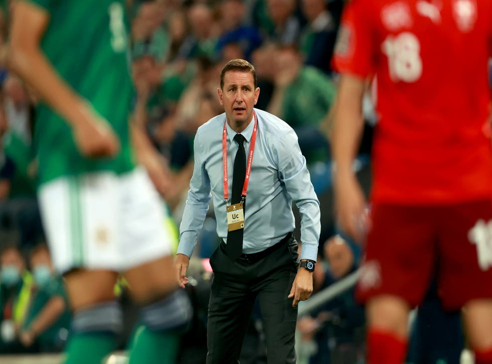 Ian Baraclough was proud of how his players performed against Switzerland (Niall Carson/PA)