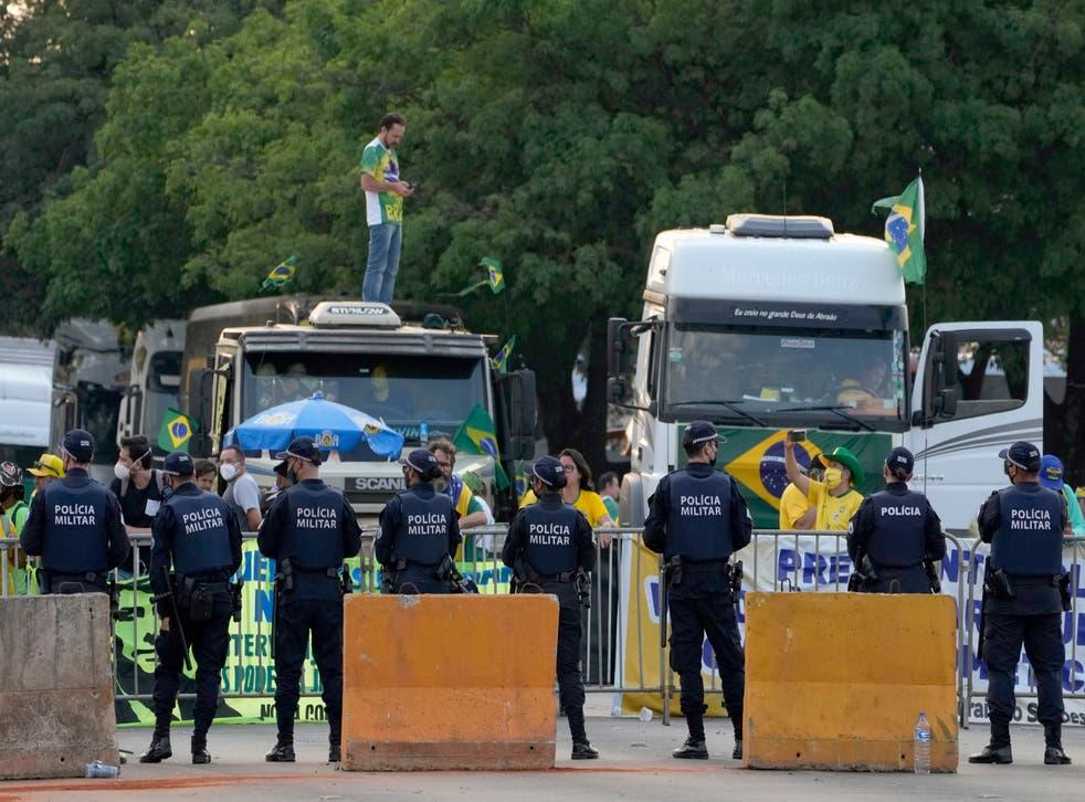 Brazil Bolsonaro Protest