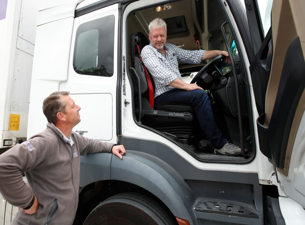 <p>File photo: An articulated lorry driving lesson  at the National Driving Centre, Croydon on 31 August</p>