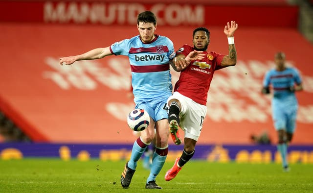 Declan Rice has been linked with Manchester United (Dave Thompson/PA)