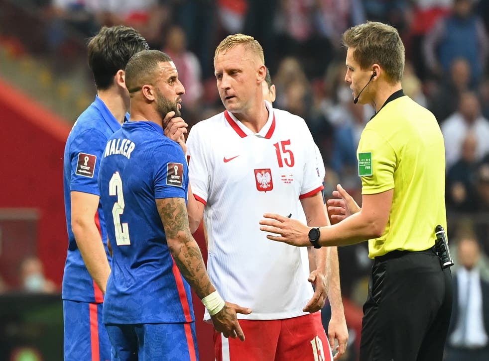 <p>Kyle Walker and Kamil Glik were involved in an incident on Wednesday</p>